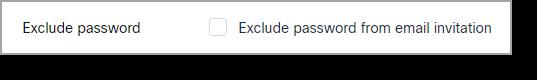 exclude password
