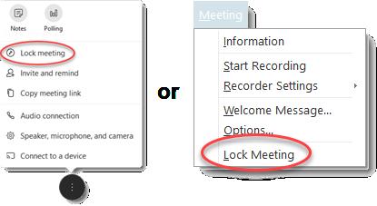 lock meeting menus