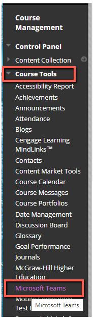 Course Management Pane