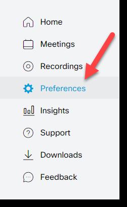 preferences tab