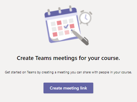 Create Teams meeting for your course
