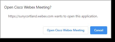 Open meeting button