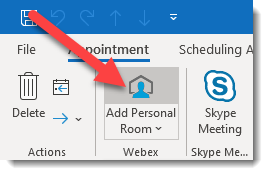 add personal room button