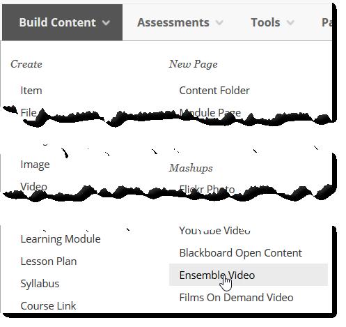 build content menu.