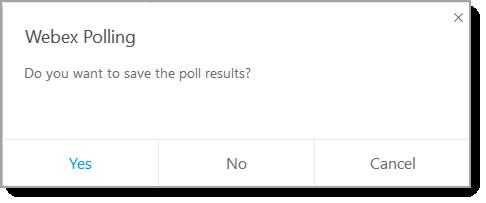 Webex Polling dialog box