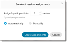 Breakout session assignments