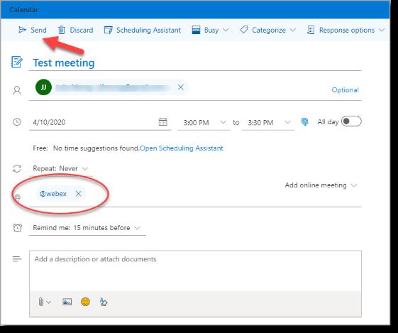 webmail meeting scheduler