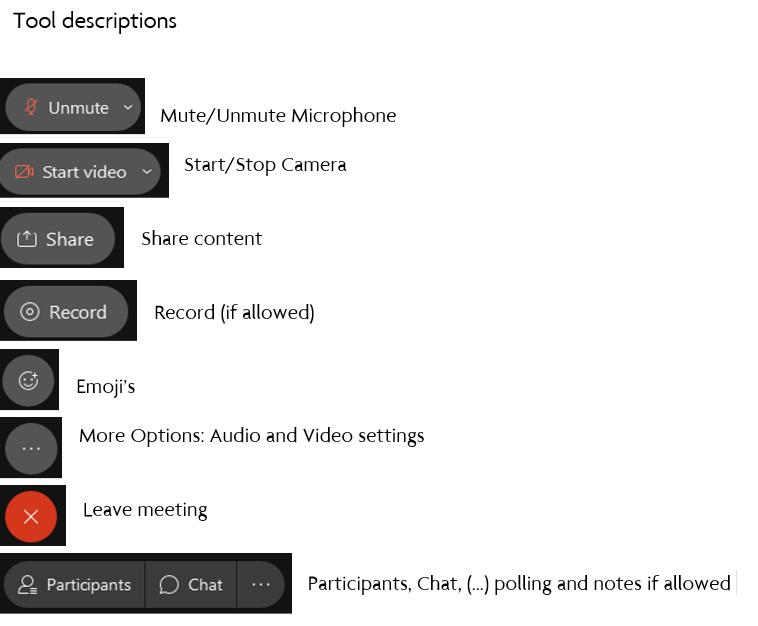 tool descriptions
