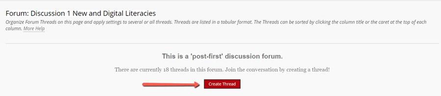 Create Initial Thread