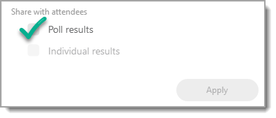 Poll results checkbox