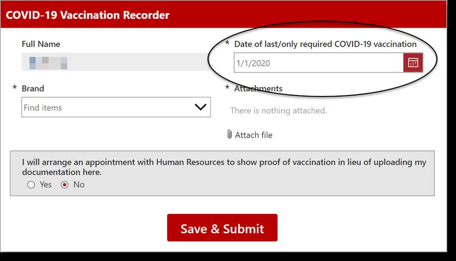 Vaccine Recorder app